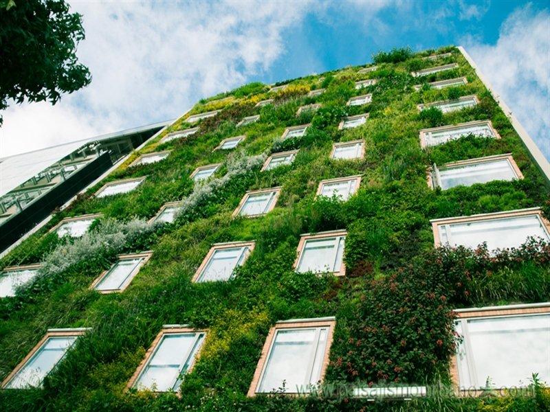 Los jardines verticales o muros verdes mvertical for Jardines verdes verticales