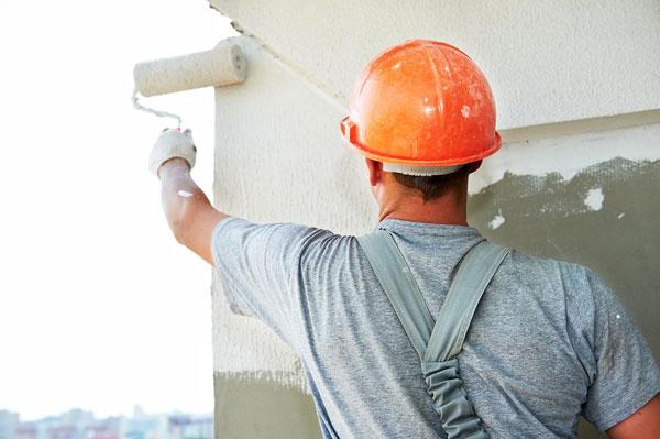 Trabajo de pintura en fachadas